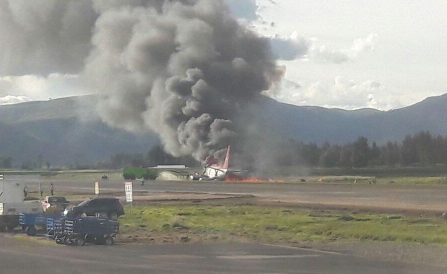El avión se despistó al momento de aterrizar en el aeropuerto de Jauja.