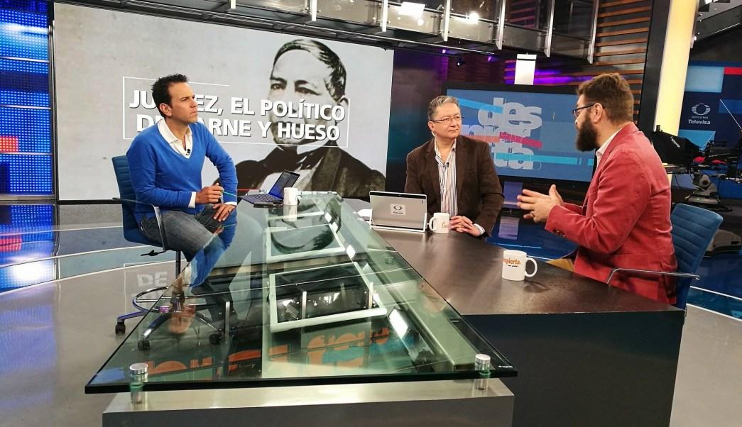 El historiador Alfredo Ávila Rueda en la mesa de Despierta con Loret. (Twitter, @NTelevisa_com)