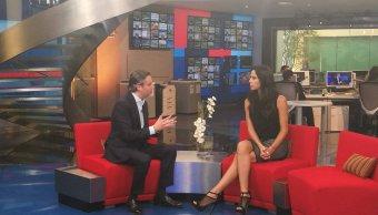 El secretario de Educación, Aurelio Nuño en Al Aire con Paola Rojas. (Noticieros Televisa)