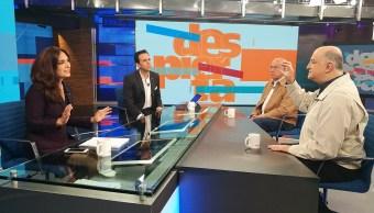 Elisa Alanís, Rubén Aguilar y Roy Campos en la mesa de Despierta con Loret. (Twitter, @NTelevisa_com)