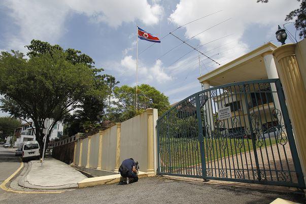 Fachada de la Embajada de Corea del Norte en Kuala Lumpur, Malasia (AP)