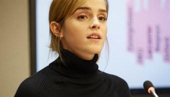 Emma Watson durante una conferencia en la ONU.