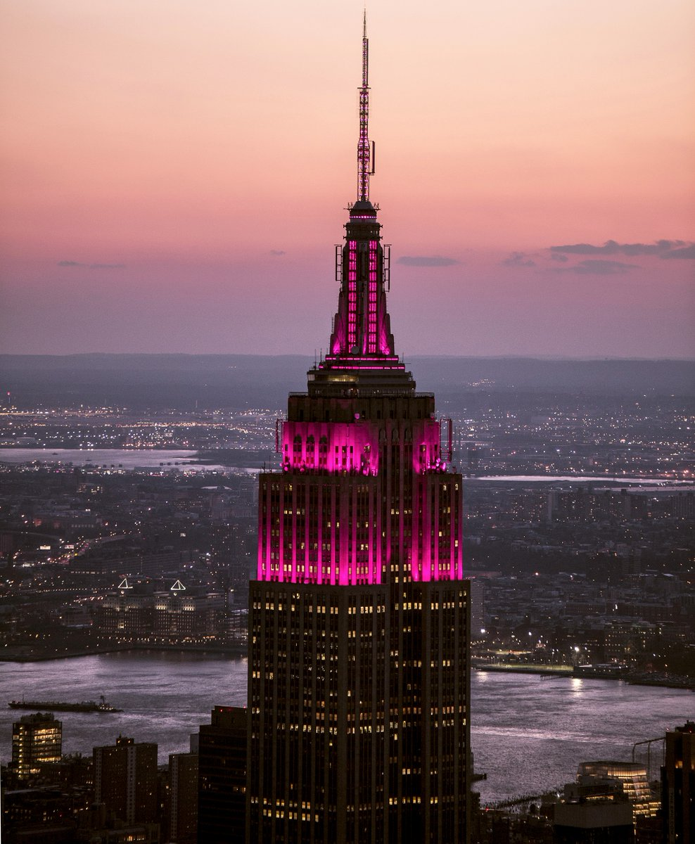 Empire State Building de Nueva York. (Twitter: @EmpireStateBldg)