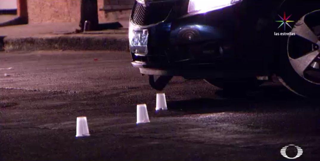 En el lugar de los hechos fueron hallados varios casquillos. (Noticieros Televisa).