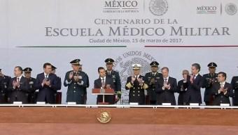 Enrique Peña Nieto inaugura la Escuela Militar de Enfermeras (Presidencia de la República)