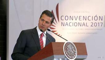 El presidente Peña Nieto participa en la Convención Nacional de la Canacintra. (Presidencia de la República)