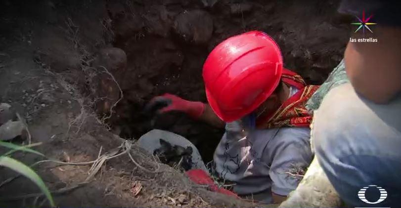 Excavación en fosa de Veracruz (Noticieros Televisa)