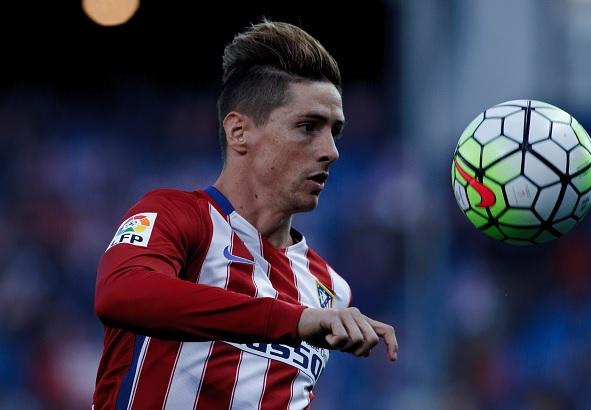 Fernando Torres futbolista español del Atlético de Madrid.