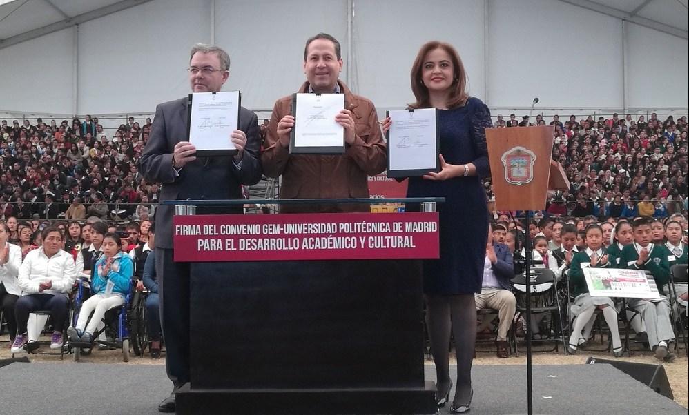 Firma de convenio entre el Gobierno del Estado de México y la Universidad Politécnica de Madrid