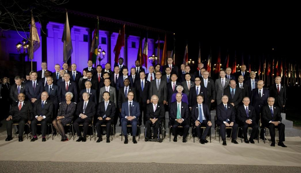 Los ministros de Finanzas y gobernadores de Bancos Centrales del G20 conversaron además sobre el desempeño de la economía global. (SHCP)