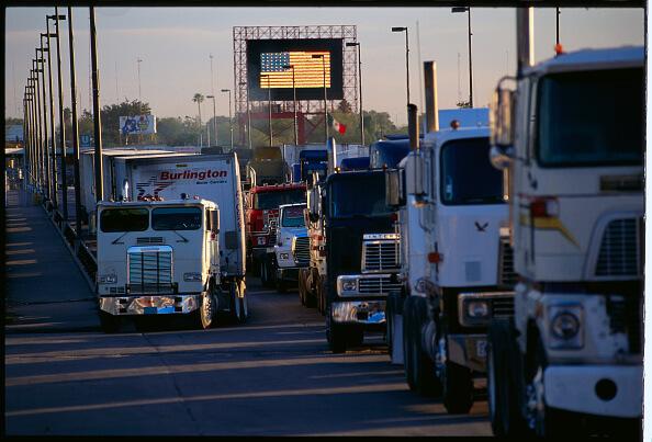 Aspectos de la frontera México-Estados Unidos, a la altura de Laredo. (Getty images, archivo)
