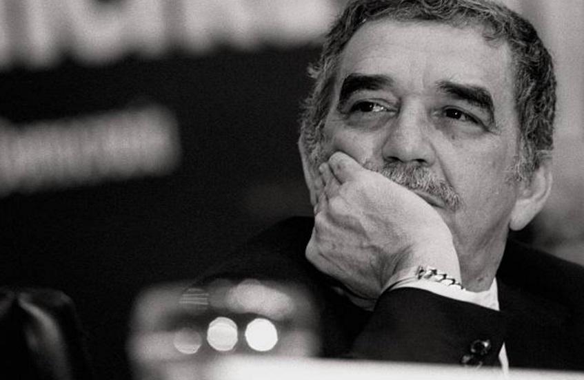 """Gabriel García Márquez, escritor colombiano, durante una conversación denominada """"Encuentro con la democracia"""" (Getty Images/archivo)"""