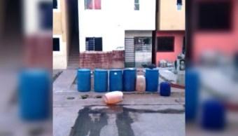 Bidones asegurados en Culiacán; autoridades realizan operativos de seguridad en el Fraccionamiento Costa del Sol (Noticieros Televisa)