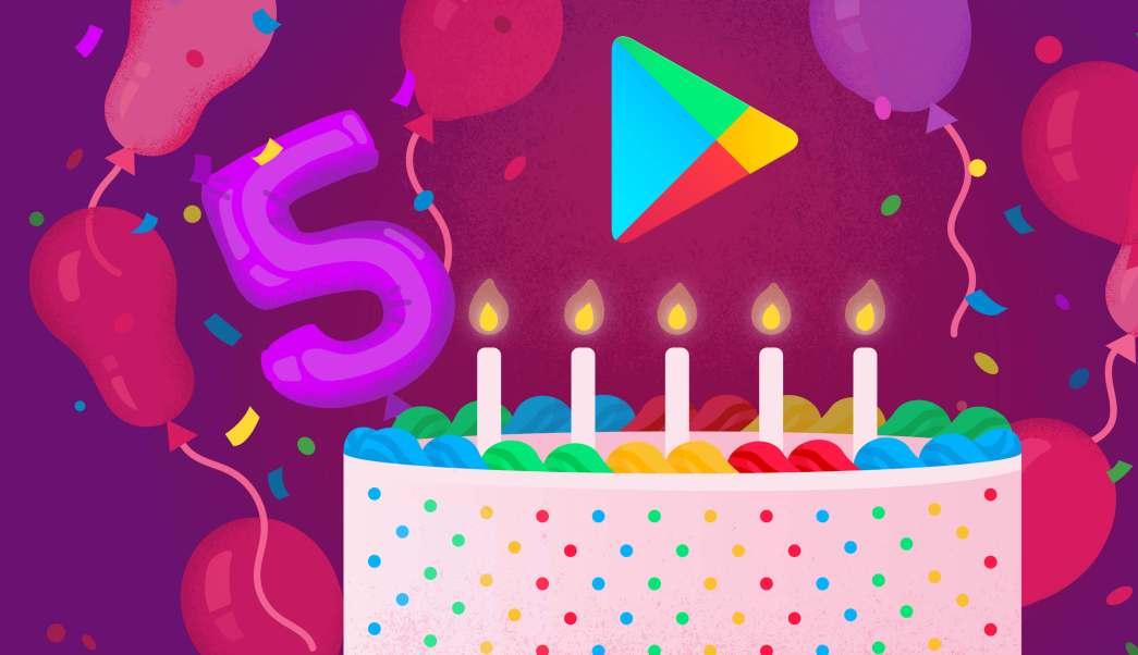 Google Play cumple cinco años (Google)