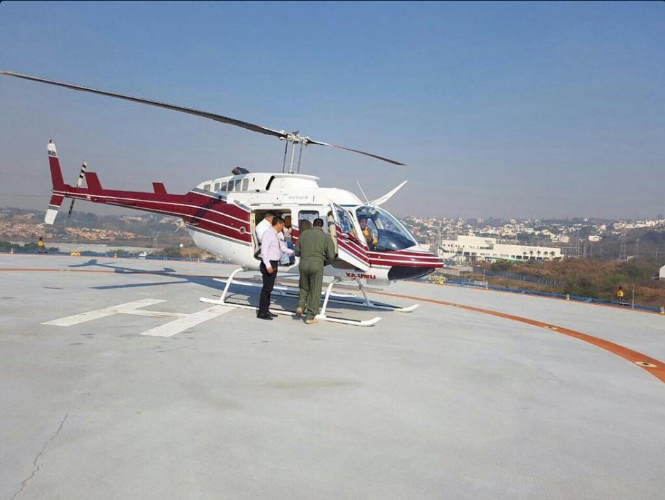 Autoridades de Morelos se auxilian de helicópteros para atender los incendios que se registran en la región (Twitter @GobiernoMorelos)