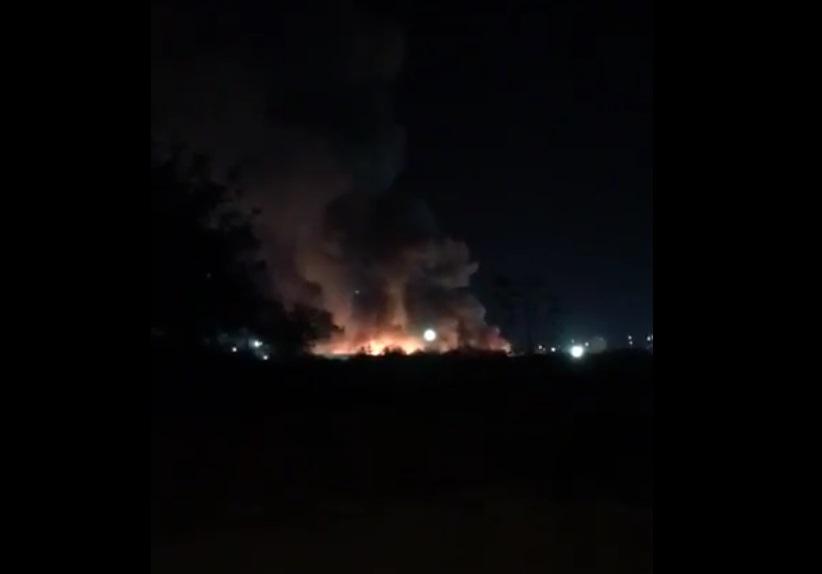 Imágenes del incendió provocado por reos en penal de Ciudad Victoria, Tamaulipas (Twitter @CarlosLoret)