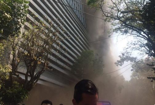 Se registra incendio en Polanco