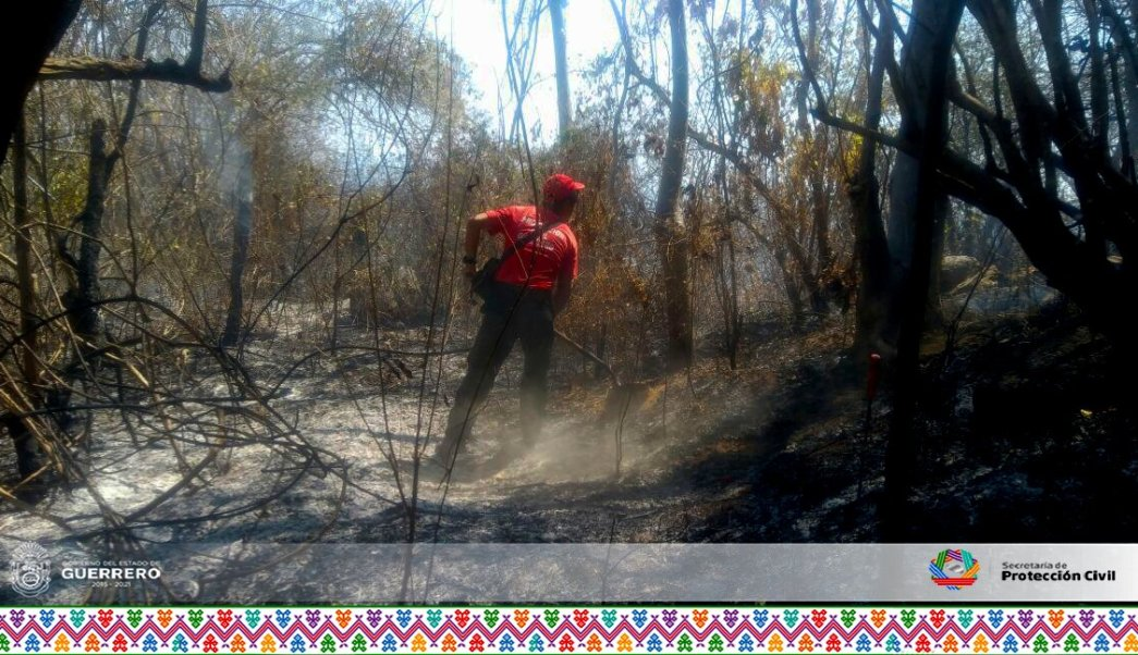 Se realizaron guardarrayas para evitar que el fuego se extendiera hacia zonas pobladas.