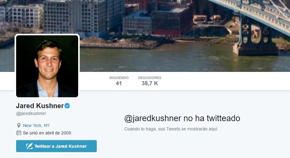 Jared Kushner borró todos sus tuits.