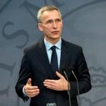 Jens Stoltenberg, secretario general de la OTAN, en conferencia de prensa.