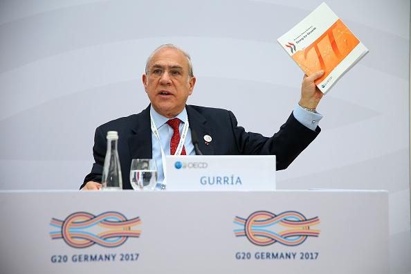 José Ángel Gurría, secretario general de la OCDE, en Baden Baden, Alemania. (Getty Images)