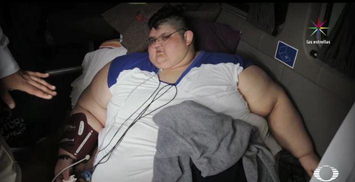 Juan Pedro, de origen mexicano, podría ser el hombre más obeso del mundo. (Noticieros Televisa)