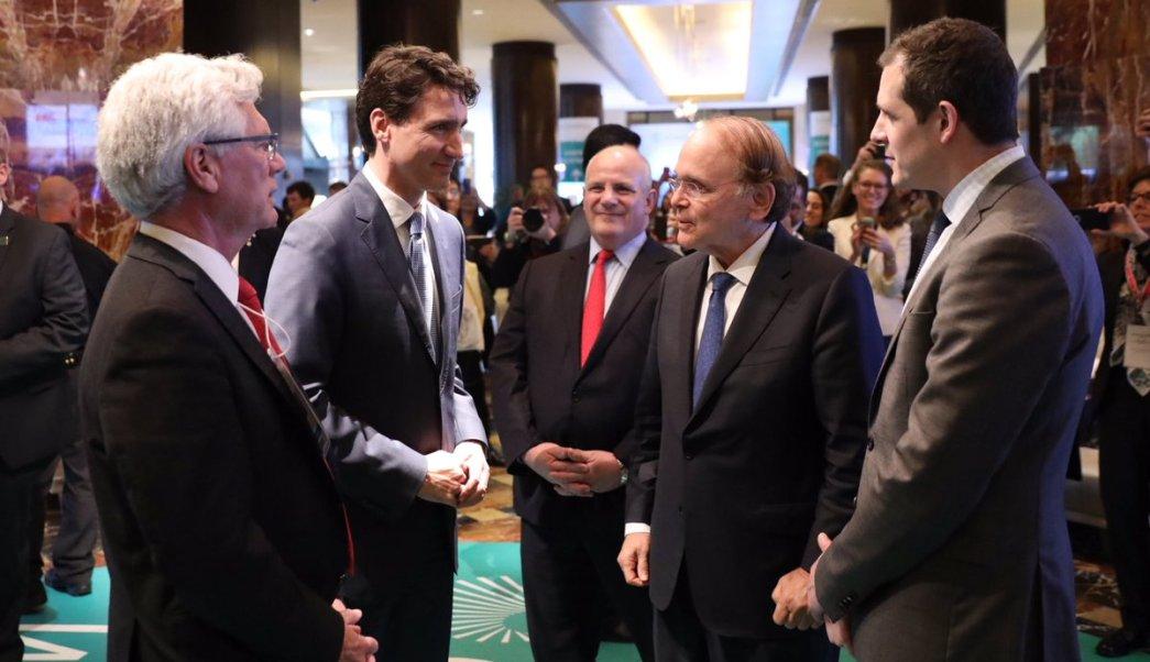 Trudeau, que asistió el jueves a la conferencia energética internacional IHS CERAWeek que se celebra en Houston, Texas. (Twitter: @JustinTrudeau)