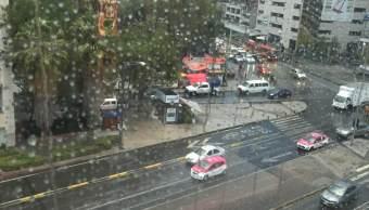 De acuerdo a los primeros reportes, en algunas zonas de Gustavo A. Madero y Cuauhtémoc cayó granizo. (Noticieros Televisa)