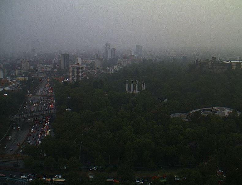 Se registra lluvia en al menos 12 delegaciones de la Ciudad de México. (@webcamsdemexico)