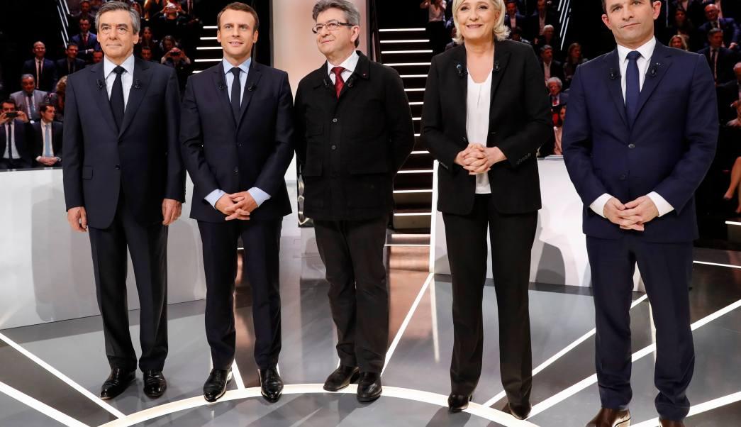 Los candidatos a la presidencia de Francia realizaron un debate televisivo.
