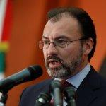 Luis Videgaray, canciller de México, durante una conferencia de prensa en las instalaciones de la embajada de México en Estados Unidos. (Reuters)