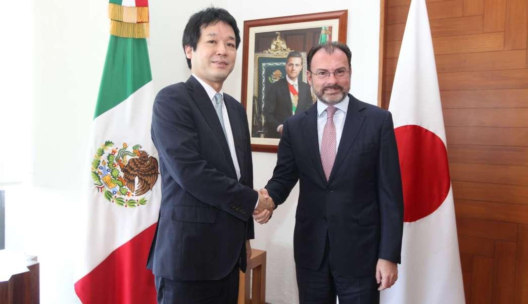 Luis Videgaray, canciller de México, se reúne con su homólogo de Japón (Secretaría de Relaciones Exteriores)