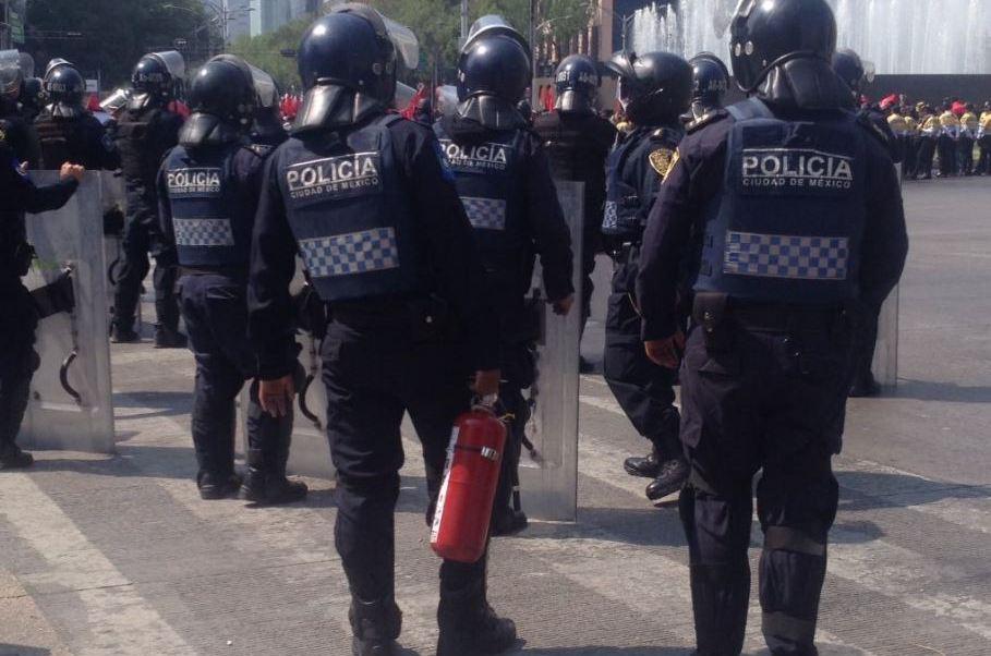 La Secretaría de Seguridad Pública capitalina actualizó su protocolo de actuación durante las manifestaciones (@ApoyoVial).