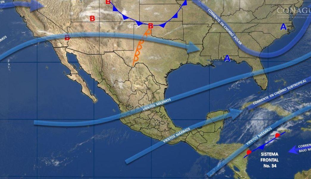 Mapa con el pronóstico del clima para este 17 de marzo; prevén nublados densos en gran parte de México. (SMN)
