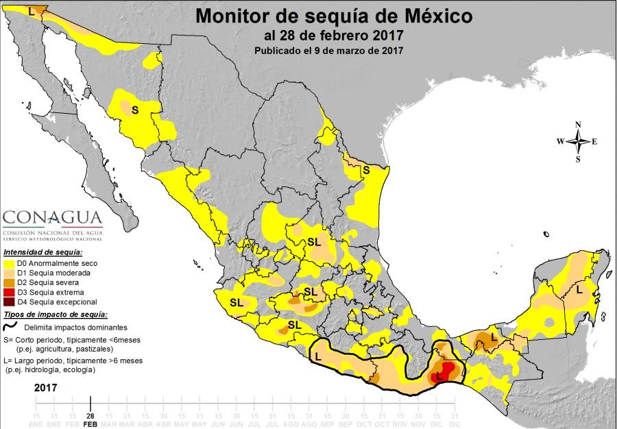 Decretan emergencia por sequía en varias cuencas del país; radiografía de las zonas afectadas (Conagua)