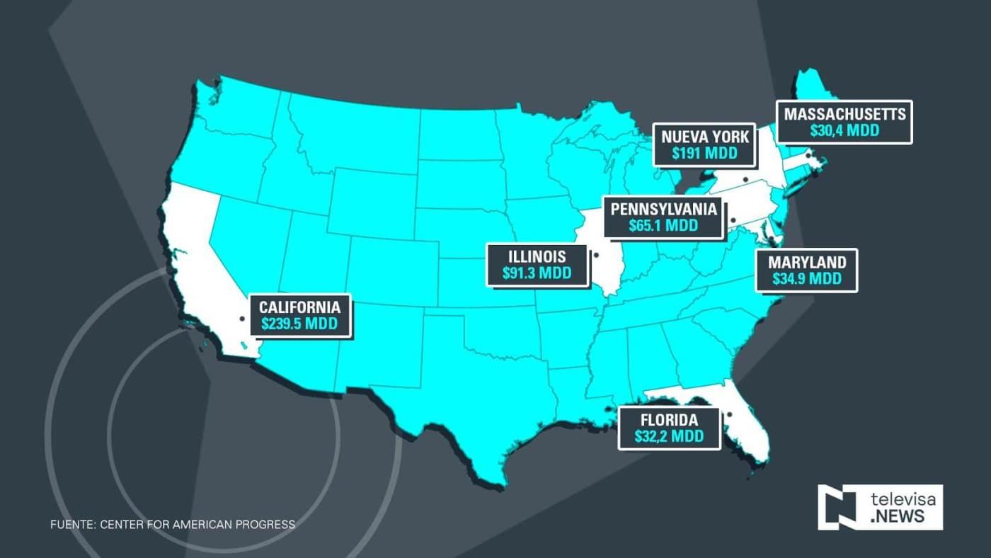 Mapa condados santuario de Estados Unidos