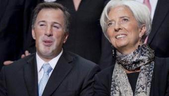José Antonio Meade Kuribreña, secretario de Hacienda de México, y Christine Lagarde, directora gerente del FMI. (Getty Images)