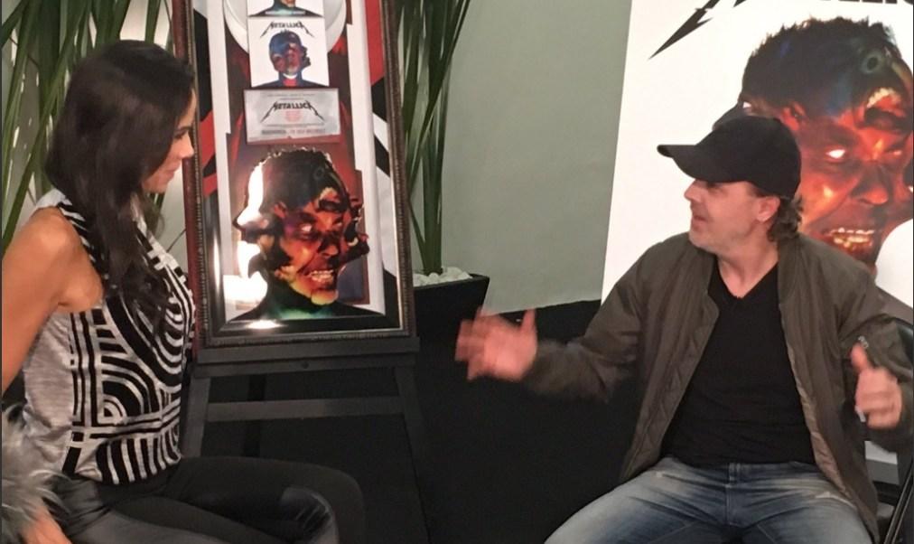 Lars Ulrich, baterista de Metallica, en su visita a México (Noticieros Televisa)
