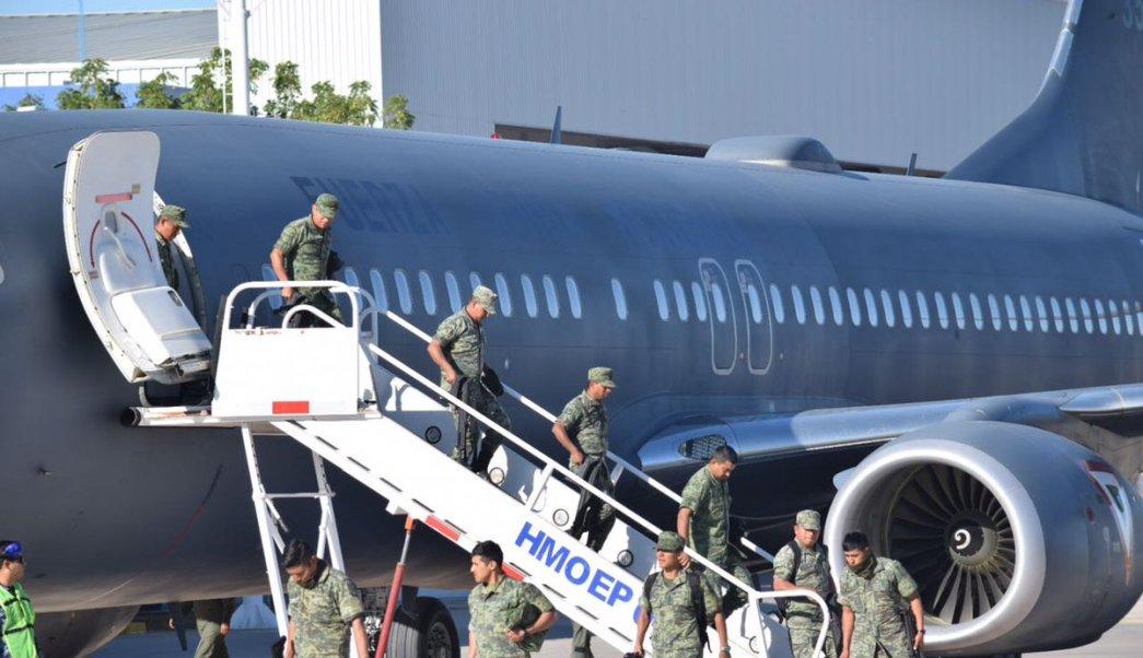 Mil policías militares llegan a Sonora. (Twitter @ssp_sonora)