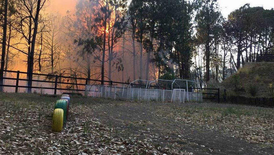 Incendio en Cuernavaca, Morelos (Twitter/@DiariodeMorelos)