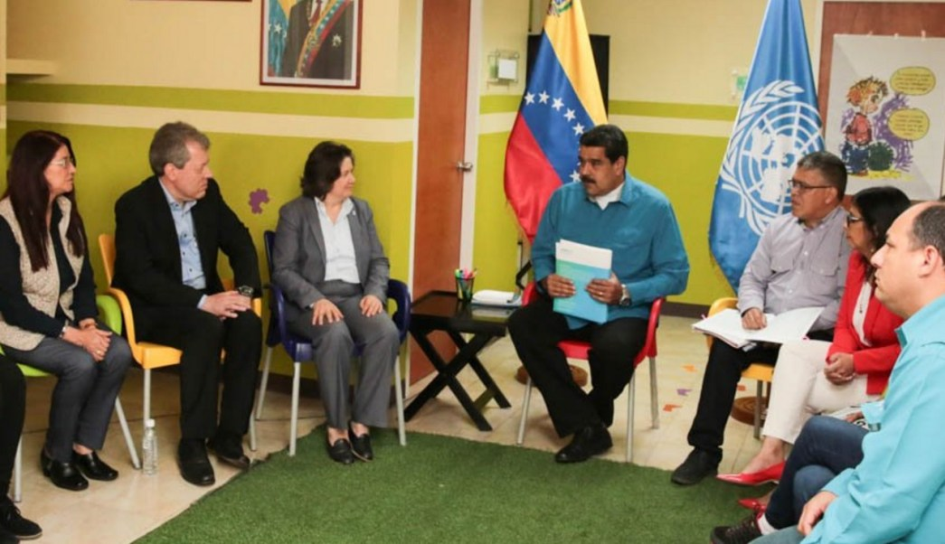 Maduro pidió apoyo a la ONU para regularizar el abasto de medicina. (Twitter: @PresidencialVen)