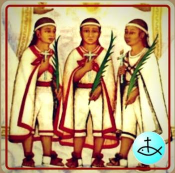 Imagen de los santos niños mártires de Tlaxcala (Twitter @CatolicosEnRed)