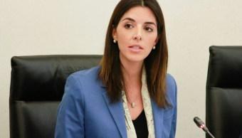 Paloma Merodio, aspirante a la Junta de Gobierno del INEGI, comparece ante comisiones del Senado de la República. (@CanalCongreso)
