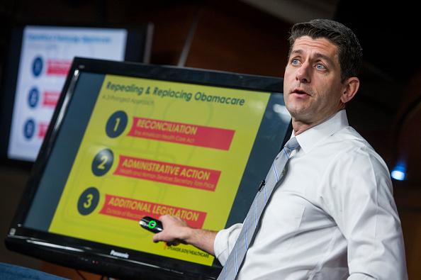Paul Ryan, presidente de la Cámara de Representantes de Estados Unidos y principal promotor del plan sanitario republicano en el Congreso. (Getty Images)