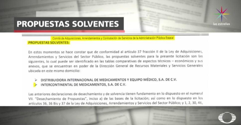 Licitación de medicamentos en Guanajuato (Noticieros Televisa)