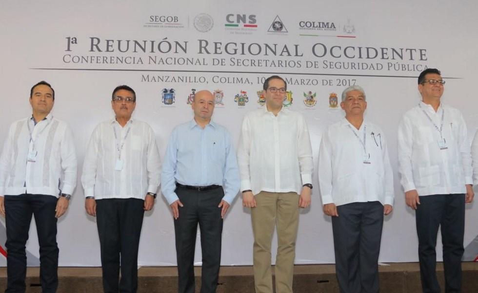 Renato Sales asiste a la Primera Reunión Regional de la Zona Occidente de la Conferencia Nacional de Secretarios de Seguridad Pública en Manzanillo, Colima.