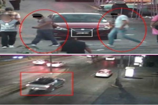 Identifican al presunto secuestrador en el lugar donde se cobró el rescate; momento en que se identifica al vehículo de la víctima (Twitter @PGJDF_CDMX)