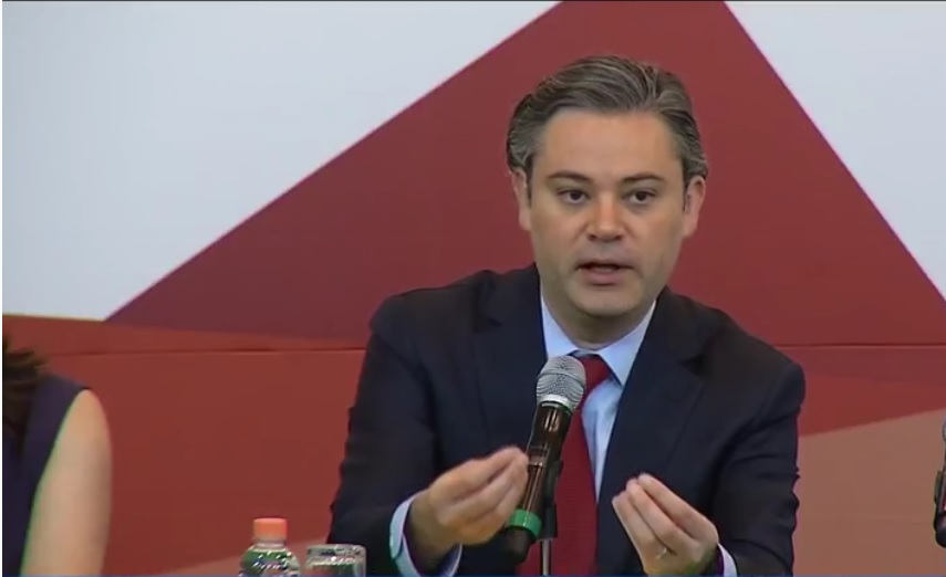 Aurelio Nuño acude a la sede del Tribunal Electoral del Poder Judicial de la Federación; la SEP y el TEPJF firman convenio de colaboración académica (Noticieros Televisa)