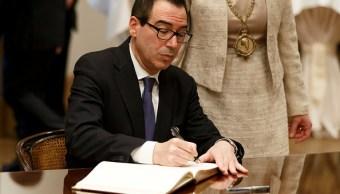Steven Mnuchin, titular del Departamento del Tesoro en Estados Unidos. (Getty Images)