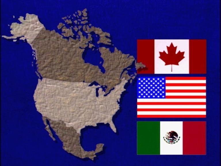 Países involucrados en el TLCAN. (AP, Graphics Bank)